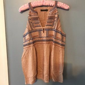 THML Sleeveless Embroidered Blouse size M